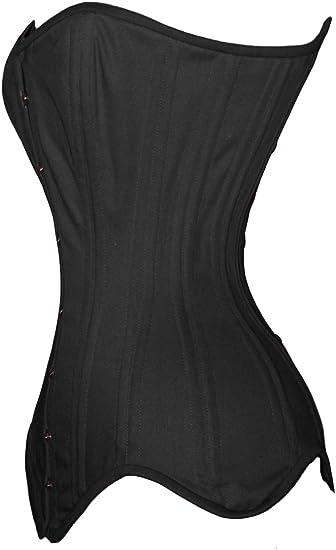 Belle noir damassé longue ligne Corset Acier 14 OS /& Lacets 8 10 12 14 16