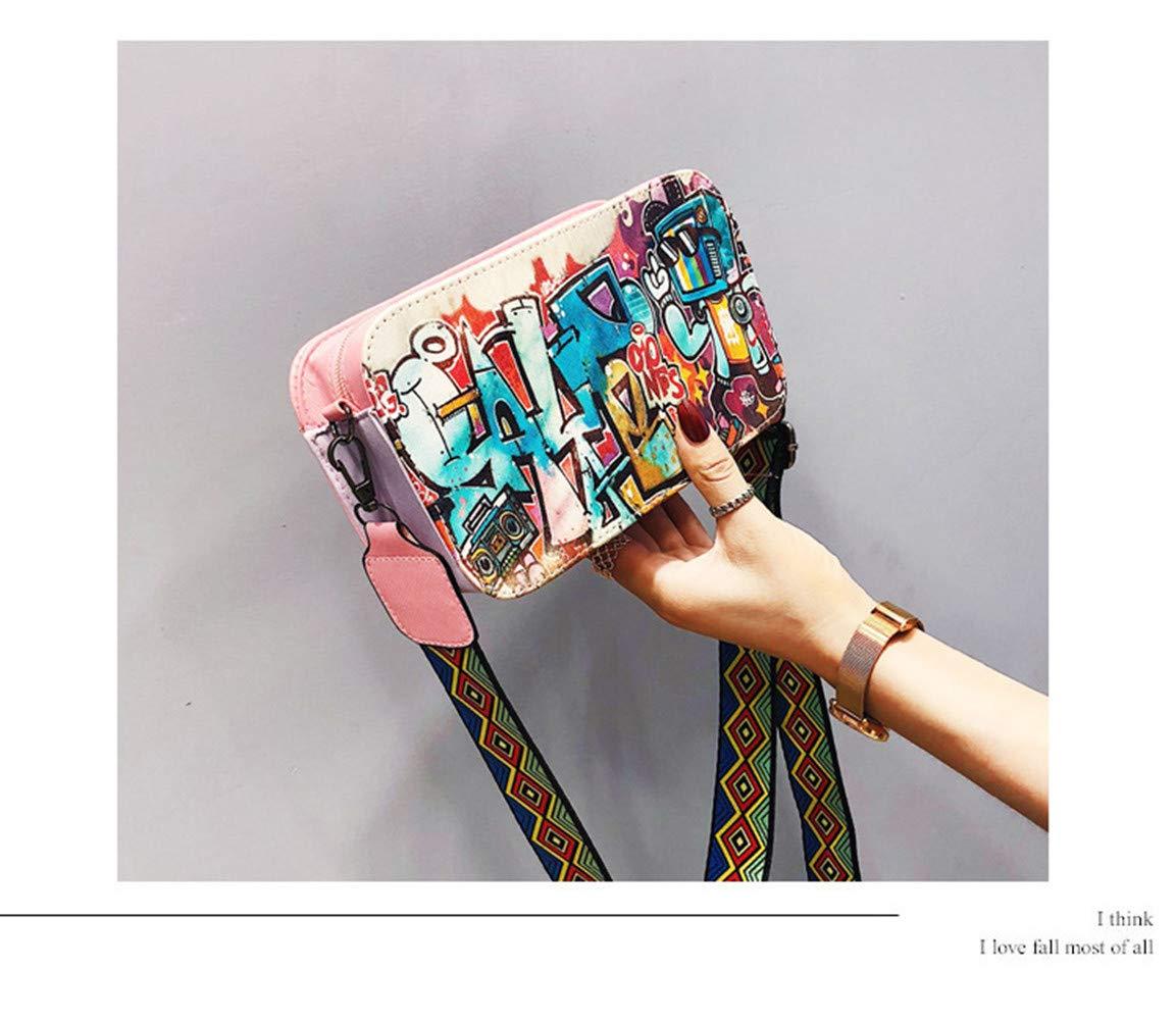 Women Little Beauty Letters Colorful Handbag Single Shoulder Crossbody Bag Messenger Bag
