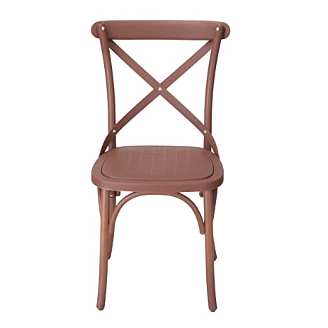 Joveco Eco Friendly Nylon Vintage Style Dining Chair Curved Leg Cross Back,  Cuba