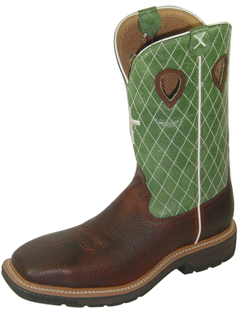 Twisted X Men's Lite Weight Work Boot Square Toe Cognac 14 EE US by Twisted X