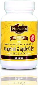 Grapefruit & Apple Cider Power Fruit Diet Capsules, All Natural, Premium 5 Star Rating. 90 Tablets