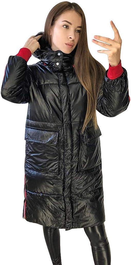 KEERADS Damen Lange Daunenjacke Winterjacke Wintermantel Kapuze Winddichte /Übergangsjacke Dicker Warmer Parka Mantel 2019 Neu