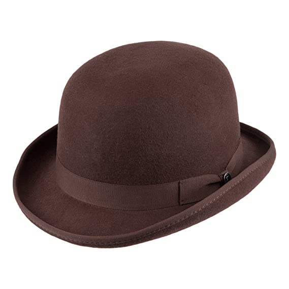 816952f41bc Jaxon   James Wool Felt English Bowler Hat - Brown  Amazon.co.uk  Clothing