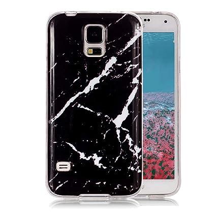 Funda Mármol para Samsung Galaxy S5, Ronger Carcasa Gel TPU Silicona Marble Case Cover Moda de Ciencia Ficción Funda Ultra Fino Flexible para Funda ...