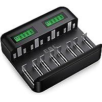 EBL acculader snel batterijlader voor AA AAA C D Ni-Mh/Ni-CD accu met type C input snel opladen, automatische detectie…