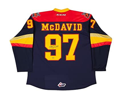 low priced b1d66 c5716 Connor Mcdavid Erie Otter CCM Jersey - Autographed at ...