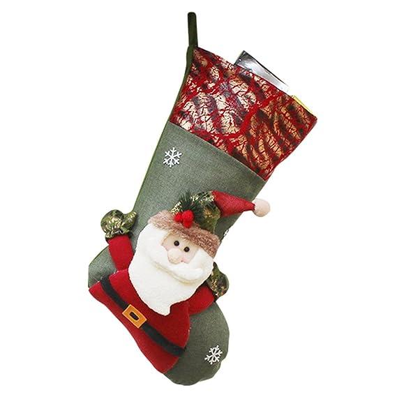 YiLianDa Calcetín De Navidad Almacenamiento De Dulces Para Navidad Decoración Navidad Calcetines: Amazon.es: Ropa y accesorios