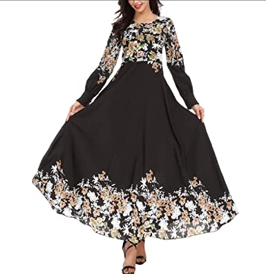7d9081005c618 Comaba Women's Saudi Style Gown Abaya Arab Turkey Loose Muslim Dress ...
