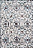 Momeni Rugs BRIGHBR-03BLU5080 Brighton Collection Traditional Persian Design Area Rug, 5'0