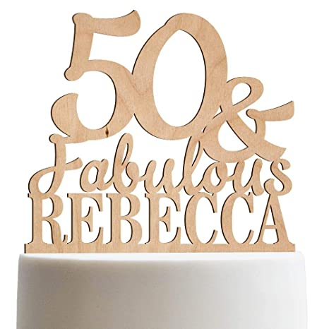 Amazon Custom Age Birthday Cake Topper 50th Personalized Funny