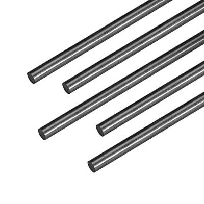uxcell 4mm Carbon Fiber Bar for RC Airplane Matte Pole US, 400mm 15.7 inch, 5pcs: Industrial & Scientific