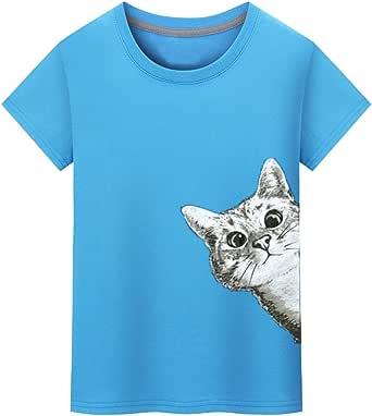 Verano Camisetas Cortas de Hombres,Camisetas Divertidas para Adolescentes Muchachos Novio Regalos Divertidos Ropa con Blusa Estampada de Cartton