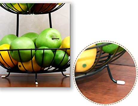 wisedwell Obstschale Etagere Metall 5-st/öckige Servierplatte Servierteller Obstteller Lotus Leaf Ablageschale f/ür Wohnzimmer