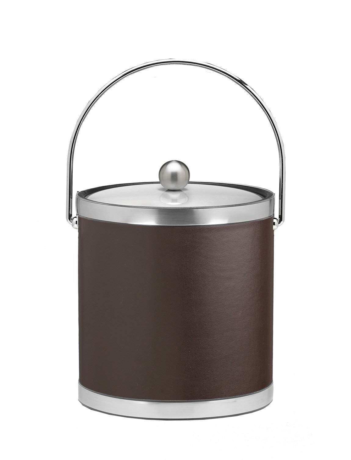 Kraftware Vinyls and Mylars Ice Bucket, 3 quart, Brown