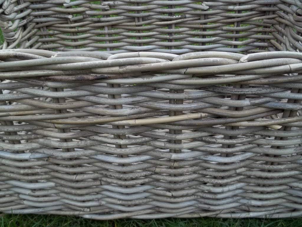 beige-grau Kaminkorb Holzkorb Regalkorb ca 30 x 41 x 20 Erntekorb aus Rattan