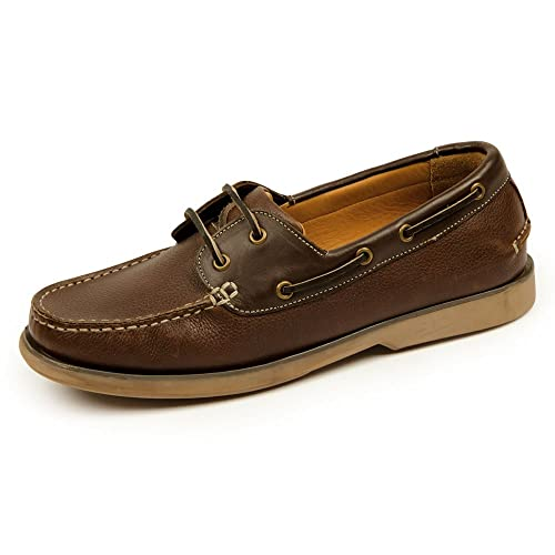 81f88f6a9af7 Samuel Windsor Men s Handmade Leather Slip-on and Lace-up Boat Deck Shoes  with