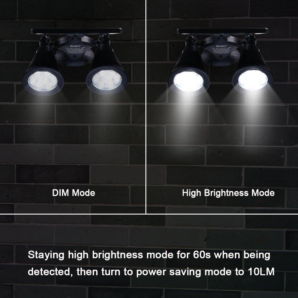 Brizled Motion Sensor Outdoor Lights Solar Spotlights 12