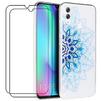 XinYue Funda Honor 10 Lite/Huawei P Smart 2019 + [2 Pack] Protector Pantalla, Carcasa de Silicona Ultra Fino Funda Ligero Anti-Rasguño Anti-Golpes - ...