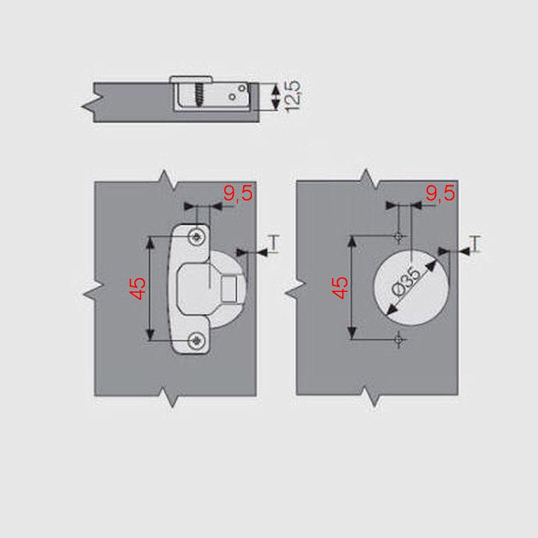 SO-TECH® SAMET Weitwinkelscharnier 165° Weitwinkel-Topfband mit ...