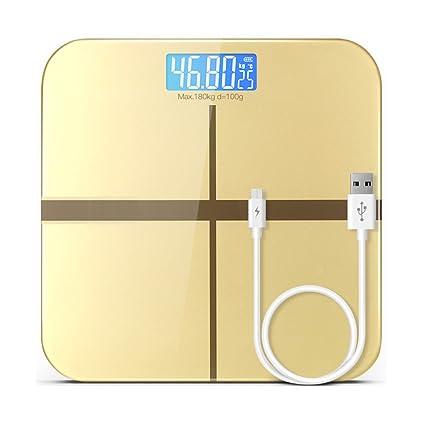 Báscula De Pesaje Básculas Electrónicas Báscula De Carga USB Salud del Hogar Pierda Básculas De Peso