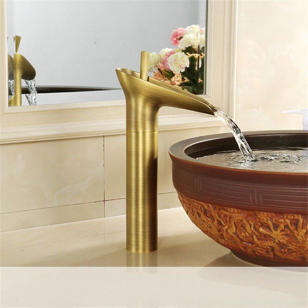MEIBATH Waschtischarmatur Badezimmer Waschbecken Wasserhahn Küchenarmaturen Kupfer Einhebelsteuerung Warmes und Kaltes Wasser Antike Küchen Wasserhahn Badarmatur