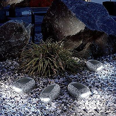 Luces de jardín con energía solar, impermeables, luz nocturna con forma de piedra para exteriores, luces solares para patio, terraza, patio, decoración de paisaje: Amazon.es: Iluminación
