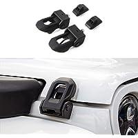 elegantstunning Universal Black Car Flush Hood Mount Bonnet Latch Catch Pin Key Locking Kit,Red