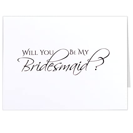 amazon com will you be my bridesmaid cards 5 5 x 4 25 inches