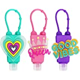 SENSIVO Hand Sanitizer Holder Keychain Empty Travel Size Hand Sanitizer Keychain For Backpack Small Hand Sanitizer Bottles Fo