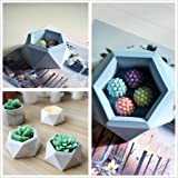 1 PC Hexagon Flower Pot Silicone Mold - MeiMeiDa