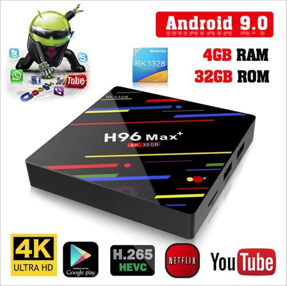 Modelo 2019] H96 MAX Android 9,0 TV Box 4GB + 32GB 4K Ultra HD ...
