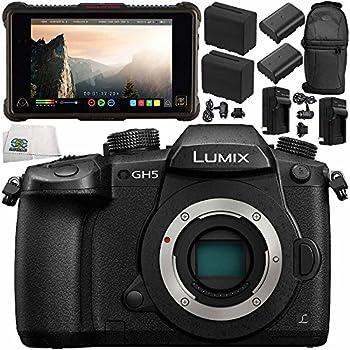"Panasonic Lumix DC-GH5 Mirrorless Micro Four Thirds Digital Camera (Body Only) + Atomos Ninja Inferno 7"" 4K HDMI Recording Monitor 11PC Bundle – Includes 64GB SD Memory Card + MORE"