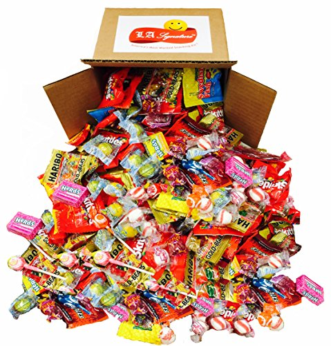 Assorted Classic Candy - Huge PARTY MIX Bulk bag! net weight 100 oz / 6.25 LB (Party Mix, 6.25lbs) Includes Skittles, Starbursts, Jolly Rancher, Lemonhead, Twizzlers,and (Assorted Halloween Candy)