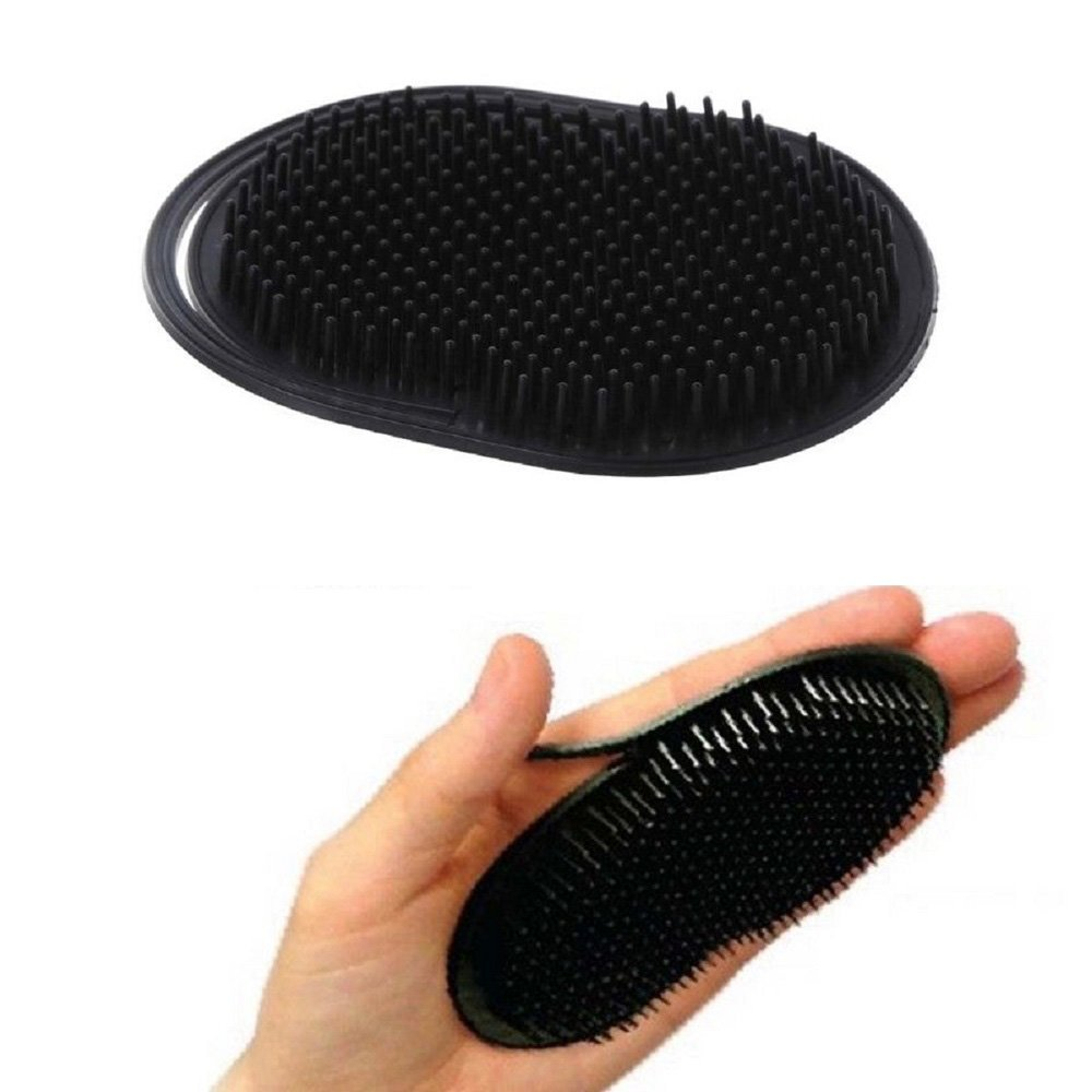 3pcs Soft Palm Brush for Men, Pocket Palm Combs, Portable Hair Beard Shampoo Brush, Travel Scalp Massage Brush, Short Hair Pet Dog Cat Grooming Brush EXBOM