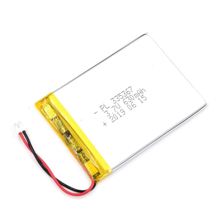 Bateria Lipo 3.7V 630mAh 335367 Recargable JST Conector