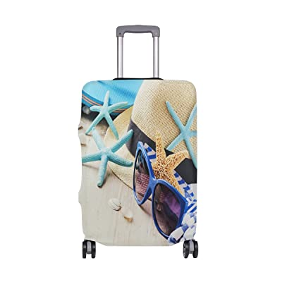 Abbylife Beach Flip Flops Slippery Custom Travel Luggage Cover Spandex Suitcase Polyester Protector Fits 18-20/22-24 Inch