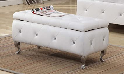Terrific Kings Brand Furniture B5104 Be Bench White Inzonedesignstudio Interior Chair Design Inzonedesignstudiocom