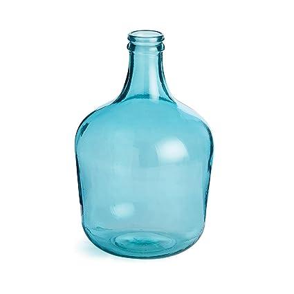 """16,5 """"elegante francés Aqua reciclado decorativa botella de cristal con elegante acabado"""