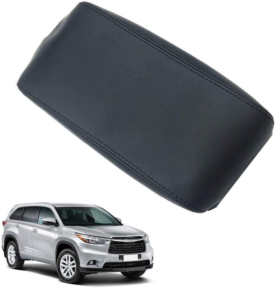 Gray Space-parts Center Console Armrest Cover Lid Leather Synthetic Cover for 2008-2013 Toyota Highlander