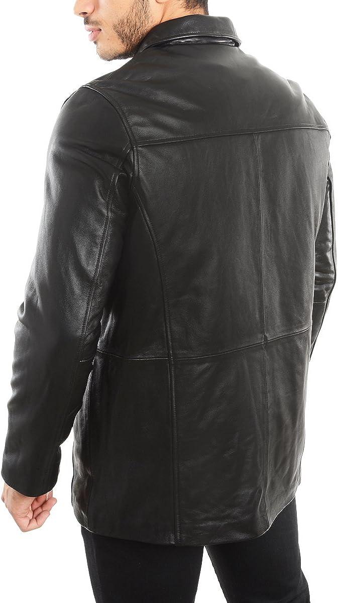 1950 Mens Jacket Genuine Lambskin Leather Four Button Car Coat REED EST