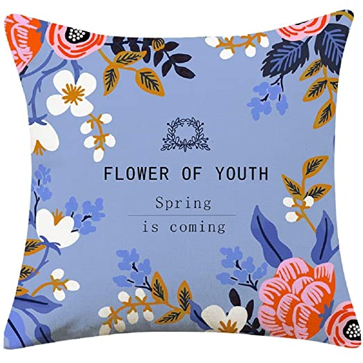 XWH Cojín cuadrado de lino, imprimir Fundas de almohada ...