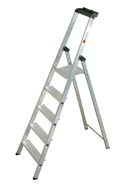 Tap 0000973 escalera Pro en aluminio 5 peldaños 3.02 m carga 150 kg: Amazon.es: Industria, empresas y ciencia