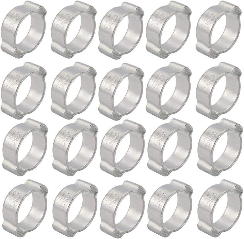 10 pièces en fer galvanisé 13mm-15mm 2-oreille Collier tuyau eau Air Carburant