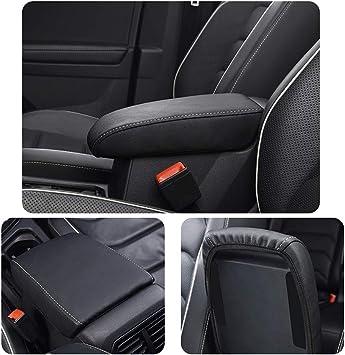 Schwarz Mittelarmlehne Abdeckung f/ür Seat Tarraco Armlehnen Box Mittelkonsole Schutz Kastendeckel