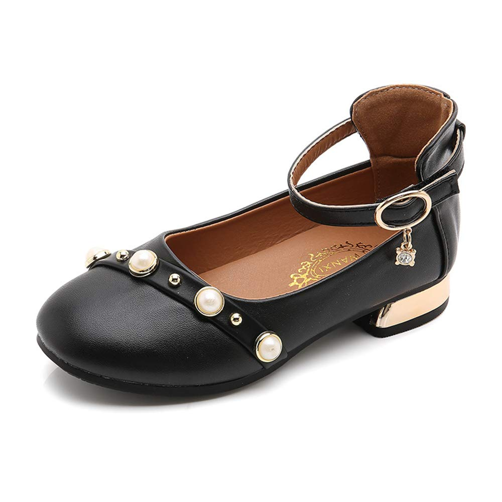 Dolwins Girls Casual Shoes Leather Shoes for Girls Princess Ballet Flats Shoes