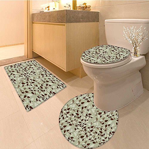 (3 Piece Bathroom Rug SetLight Collection Au Sable Light in Pictured Rock Nationa shore Michigan USA Picture F Extra Soft Memory Foam Combo - Rug, Contour Mat and Lid Cover)