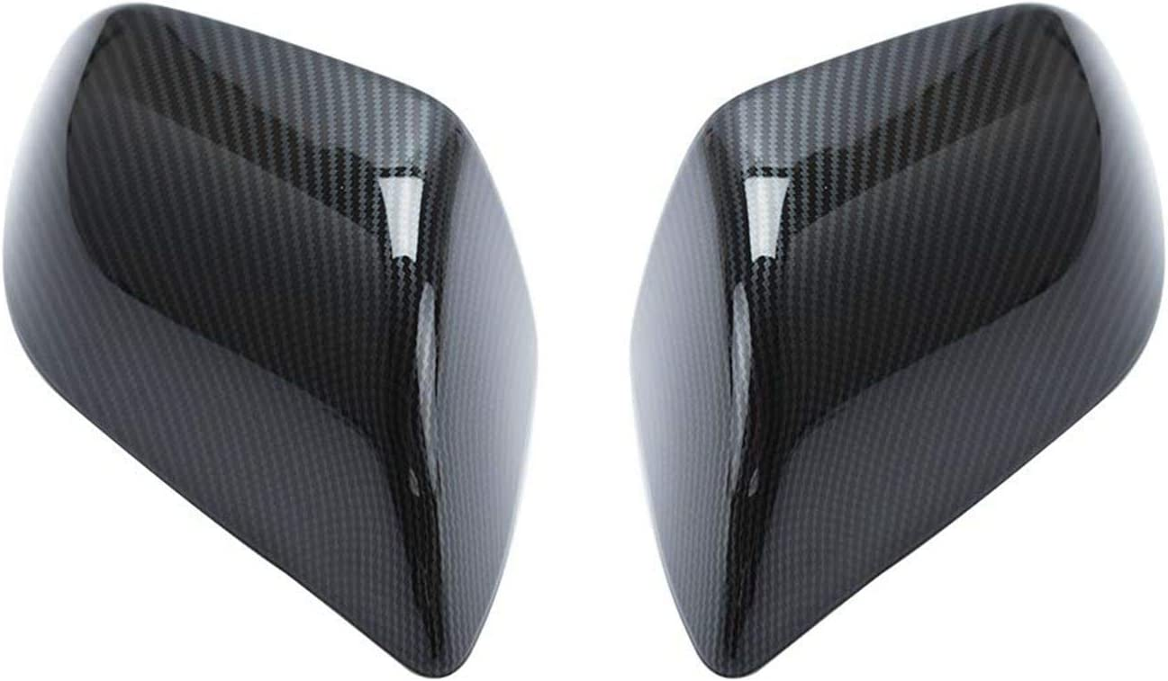 VXDAS Carbon Fiber Side Mirror Caps//Covers for T-esla Model 3 Outside Mirrors Cap Replacement Pack of 2