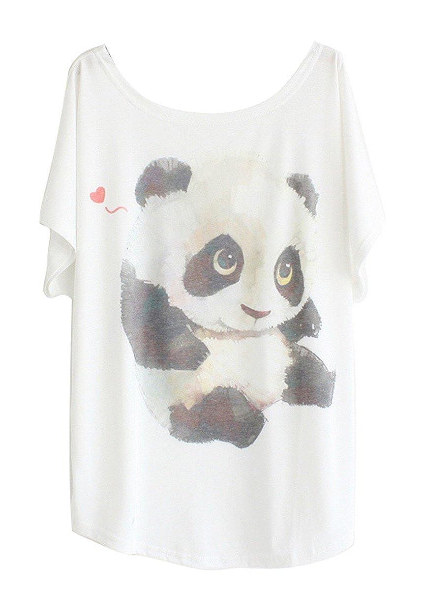 TALLA Tamaño XL (tamaño 42 44). Luna et Margarita Camiseta Mujer Blanca Manga del Batwing patrón Cuello Redondo Mezcla de algodón tamaño 36 38 40 42 44 46