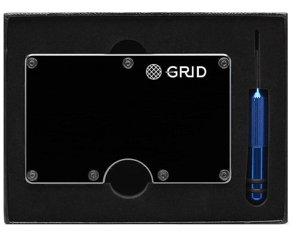 Amazon Com Grid Wallet Black Aluminum Wallet Credit Card Holder