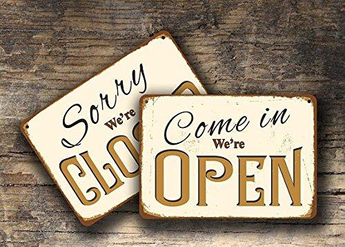 Señal abierta cerrada, cartel abierto cerrado, estilo ...